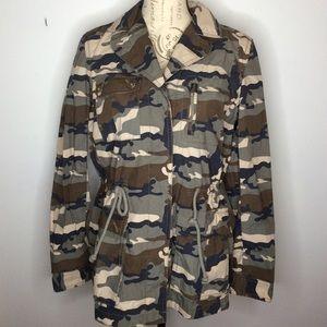 Banana Republic Camo Army Military Jacket Coat MED